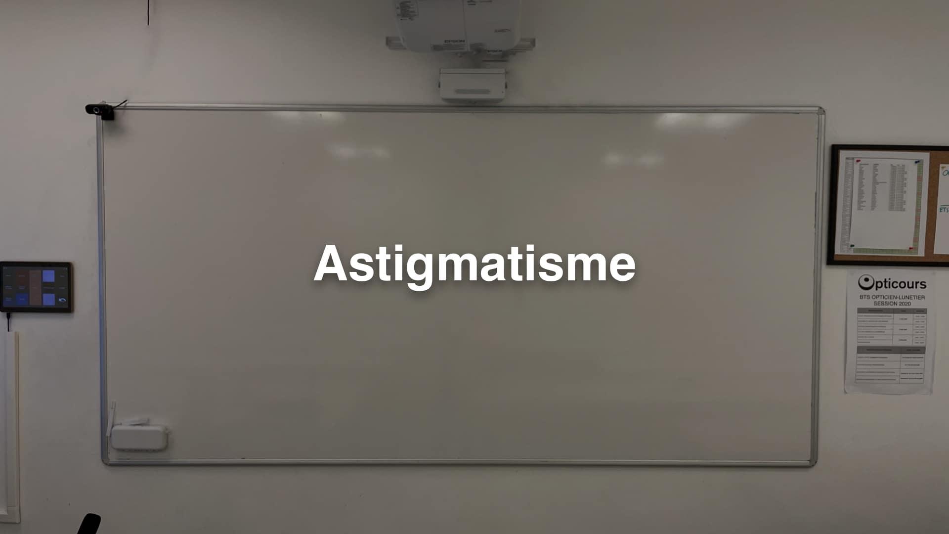 Cours BTS OL Astigmatisme