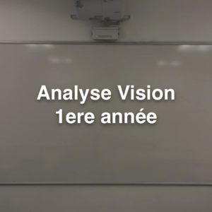 Cours BTS OL Analyse Vision 1ere année