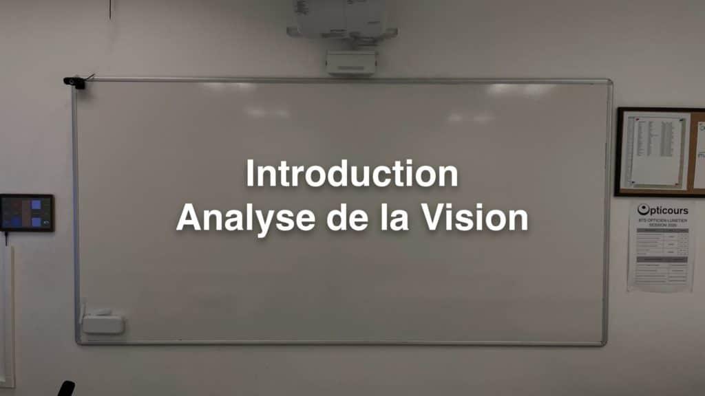Cours BTS OL Introduction Analyse de la Vision