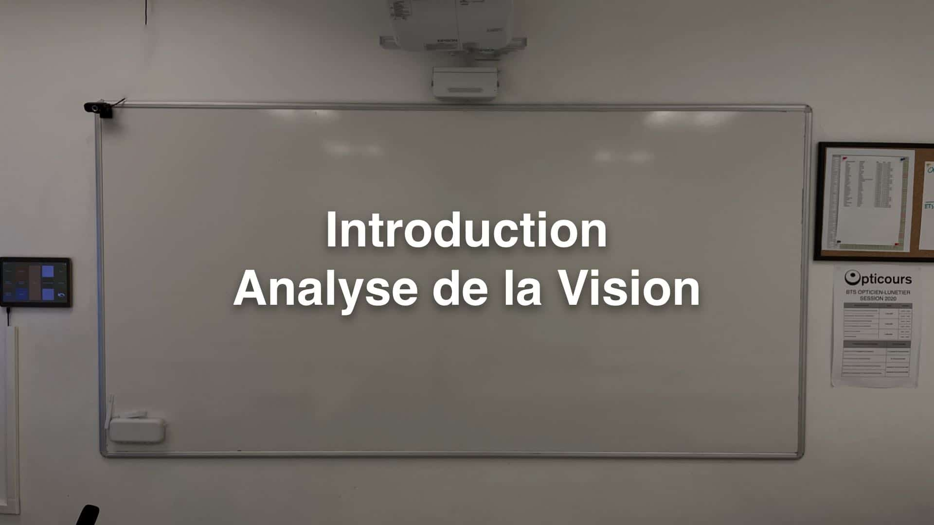 Cours BTS OL Introduction Analyse de la Vision