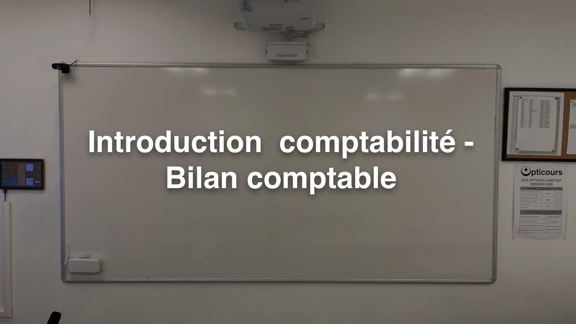 Introduction comptabilité - Bilan comptable